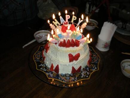 ケーキ点灯2