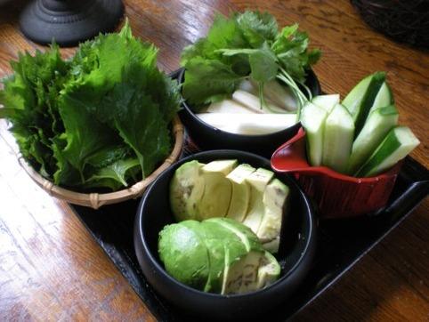 手巻き用野菜