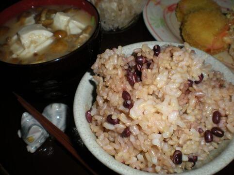 小豆玄米ご飯