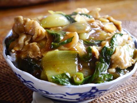 チンゲン菜&玉葱の和風カレー