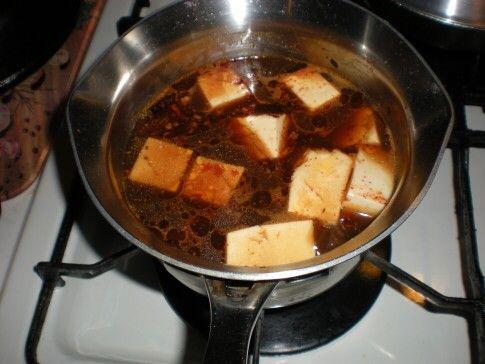 豆板醤を入れた豆腐鍋