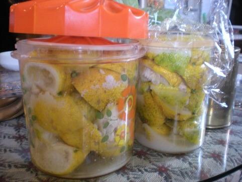 柚子の塩漬け作り