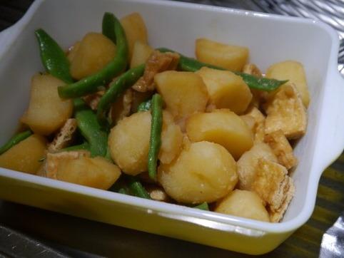 ジャガイモ&インゲン&油揚げの煮物