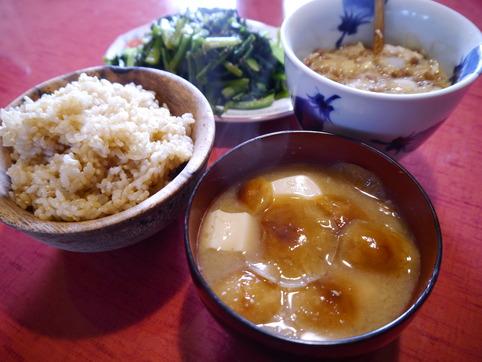ナメコの味噌汁