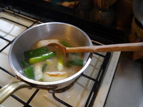 根深葱の味噌汁3