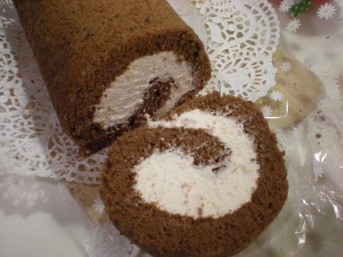 ケーキをカットした