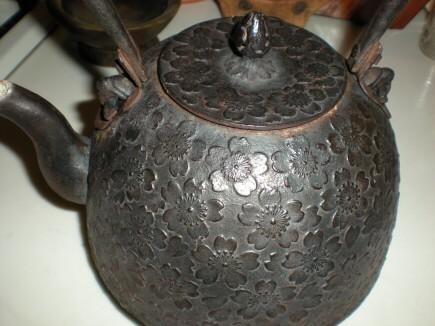 今朝の鉄瓶