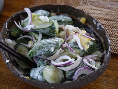 胡瓜&紫玉葱のサラダ