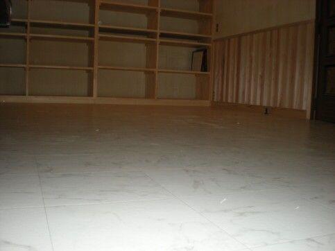 仕事部屋の床