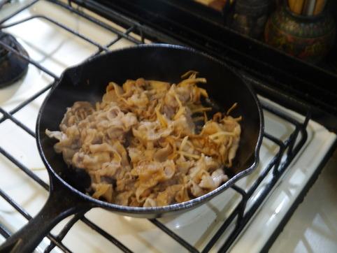 生姜焼きフライパン