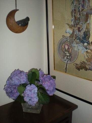 紫陽花を挿す