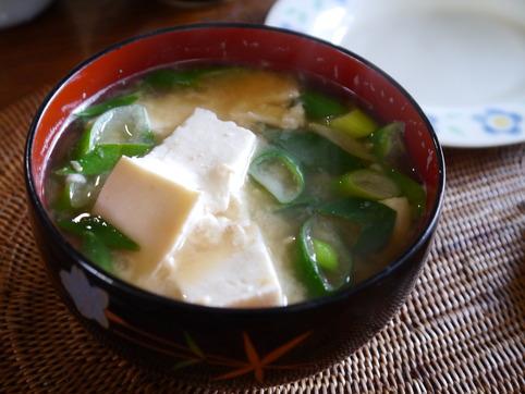 豆腐と葱の味噌汁