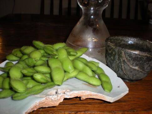 茶豆と冷酒