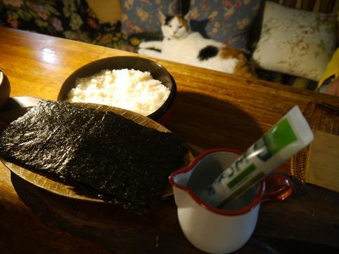 酢飯と海苔