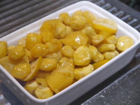 サツマイモ&栗の檸檬煮
