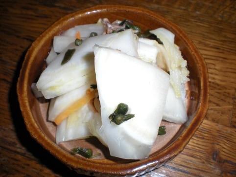 白菜漬けの芯