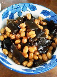 大豆&昆布の煮物