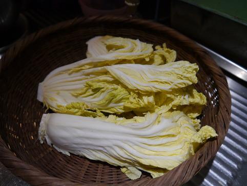 干した白菜