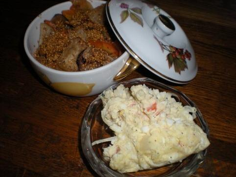ポテトサラダ&漬物炒め