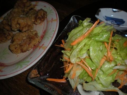 鳥唐&サラダ
