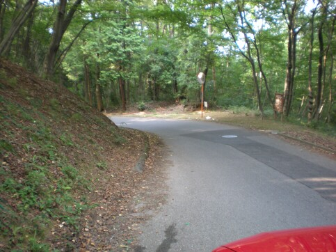 霊園への道路