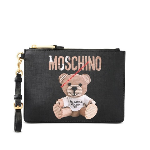 moschino-paperbear-clutch-black-1