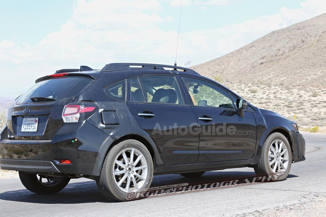2018 subaru xv crosstrek mule spy photos 14 2018 subaru xv crosstrek ...