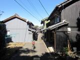 出羽島の町並み。