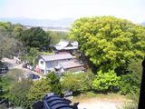 川島城、展望台からの風景(その1)。