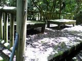八多五滝、布引の滝の近くにあった休憩所。