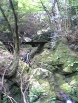 八多五滝の山道。