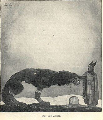 330px-Tyr_and_Fenrir-John_Bauer