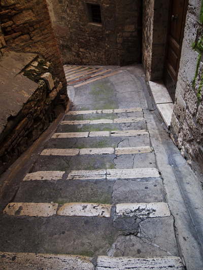 perugia lunch stairs
