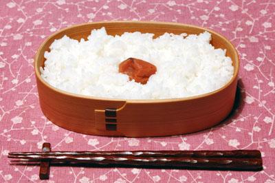 小判弁当-大-御飯に梅干し