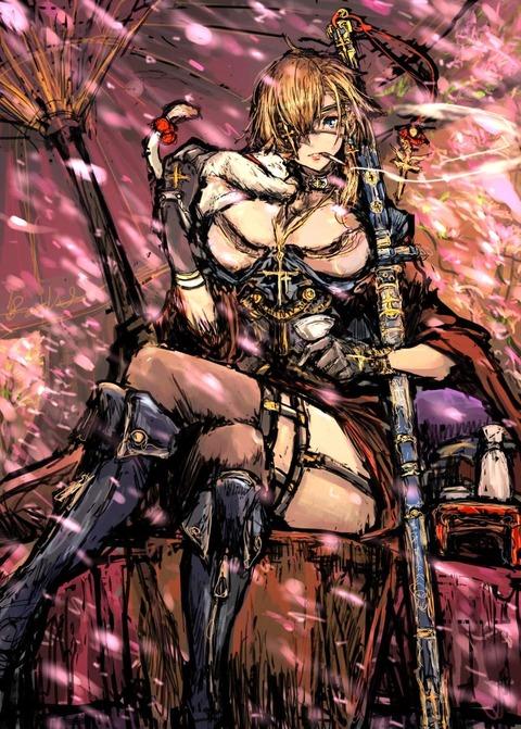 聖剣桜壱着色1