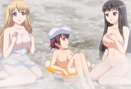 温泉旅行で4人の美女相手に股間はフル回転!やり三昧!
