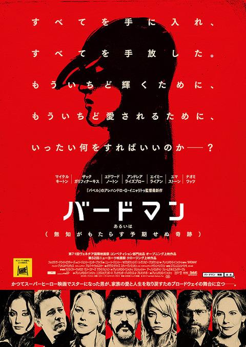 映画: バードマン あるいは(無知がもたらす予期せぬ奇跡) / Birdman or (The Unexpected Virtue of Ignorance)
