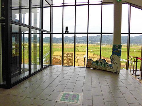 新函館北斗駅裏にあるずーしーほっきーの田んぼアートをまたまたまたまたまた観に行ってきました。