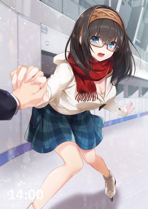 《アイドルマスターシンデレラガールズ》文香さんの手を繋ぎながらスケートしたい