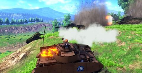 《ガルパン》知らずにゲーム映像だけ見たんだけど、車輌燃えるのかよ