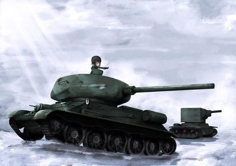 《ガルパン》白い景色に「戦車」ってなんかいいよね