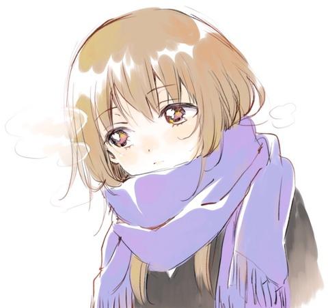 《ゆるゆり》のなもり先生がiPadで描いたマフラー美少女可愛すぎ