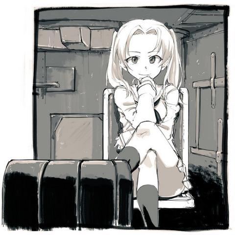 《だがしかし》作者が描いた「ガルパン・角谷杏ちゃん」かわいいな