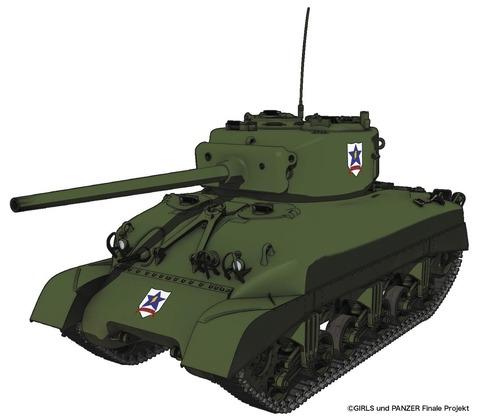 《ガルパン》プラッツ「M4A1シャーマン サンダース大学付属高校 1/35スケール」予約開始!!!