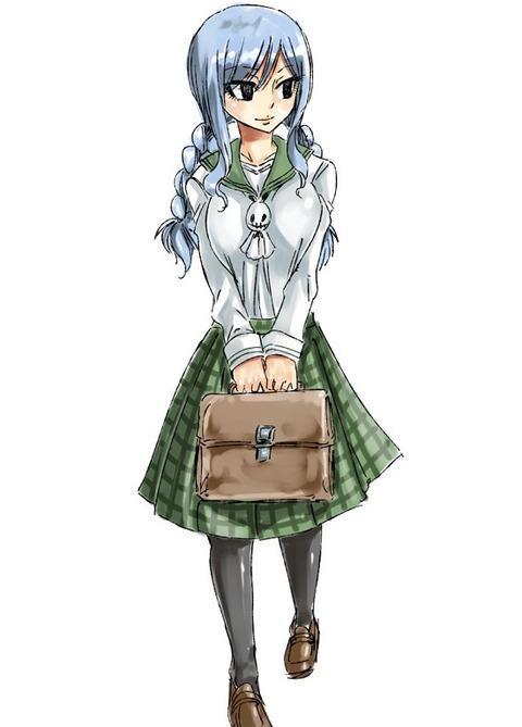 真島ヒロが描いた「学生服のジュビア。」がめちゃくちゃ可愛い