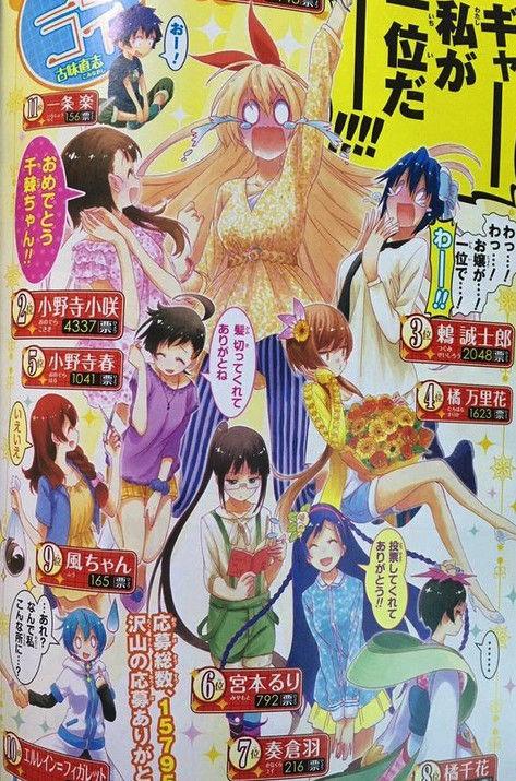 《ニセコイ》人気投票で遂に桐崎千棘ちゃんが1位に輝いた