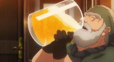 《異世界食堂》9話感想・画像 いつもは見ていて食べたくなるが、今回は物凄く飲みたくなる回だった