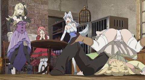 《旗揚!けものみち》9話感想・画像 尻姫様のパンツ全開!にしても頑丈だな姫様