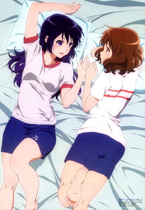 《響け!ユーフォニアム2》久美子ちゃんと麗奈ちゃんの体操着姿とかたまらん