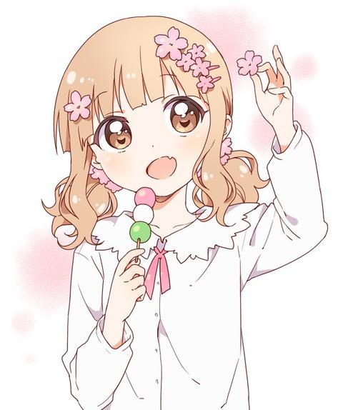《ゆるゆり》なもり先生が描いたお団子を食べてる「櫻子ちゃん」が素敵過ぎる